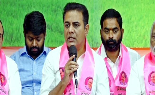Minister KTR Press Meet On TRS Party President Election - Sakshi