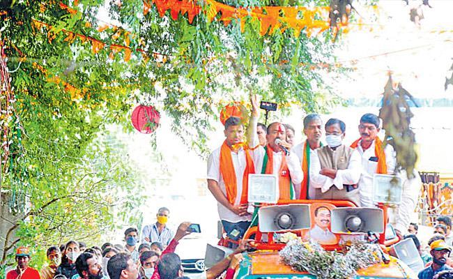 Huzurabad Bypoll 2021 Etela Rajender Slams KCR - Sakshi
