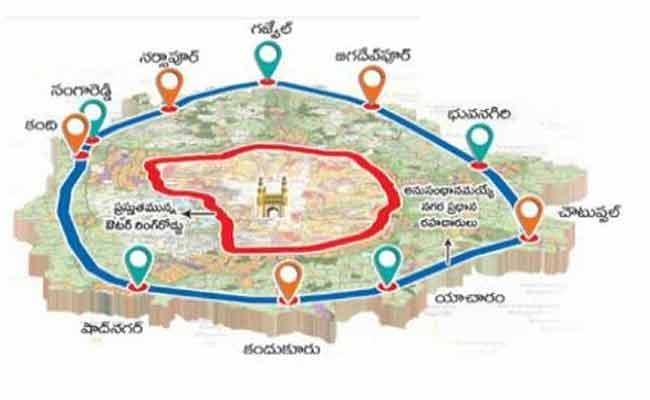 Telangana: Changes In Regional Ring Road Alignment - Sakshi