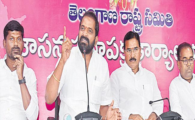 TRS Ministers Srinivas Goud Niranjan Reddy Slams Congress Party Leaders - Sakshi