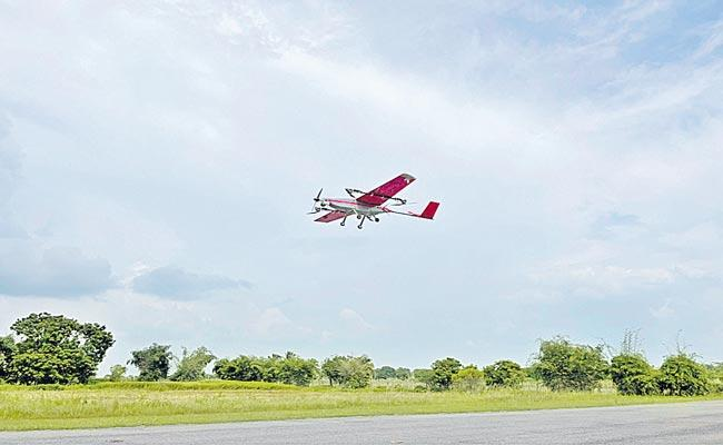 T Works Develops New AMRT25 Drone UAV Which Covers 45 Kms In 33 Mins - Sakshi
