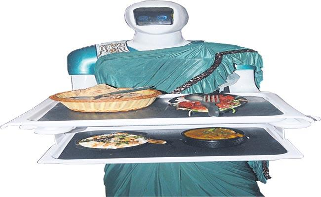 Hotel Sector Is Changing The Trend Robots Delivering Food At Restaurant - Sakshi