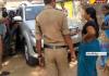 womens dharna before mla vehicle at warangal - Sakshi