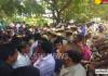 cooridanters protest at pragathi bhavan - Sakshi