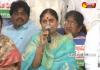 YS Vijayamma sits in YSRCP MPs Hunger Strike - Sakshi