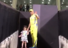 Ziva accompanies MS Dhoni for last walk to Pune dressing room - Sakshi