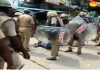 Policeman Rude Behaviour with wounded Protester in Tuticorin - Sakshi