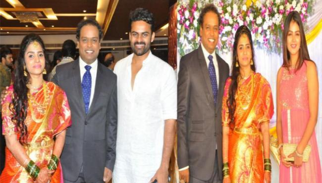 tollywood celebrities attends comedian harish marriage reception