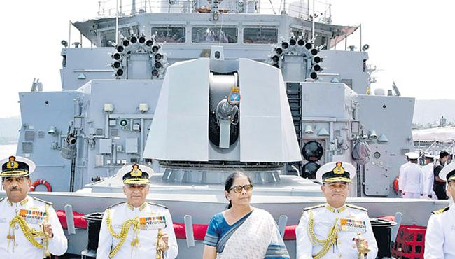 Defense Nirmala Sitharaman Dedicates INS Kilton To Country