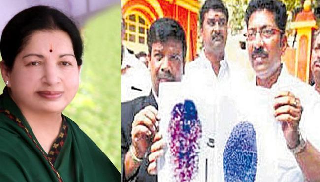 jayalalitha finger prints on Party candidate nomination papers  - Sakshi