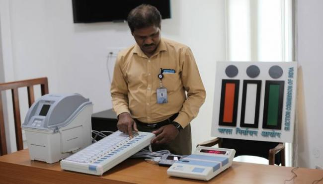 NOTA voters a fraction of voter share in Gujarat, Himachal Assembly elections - Sakshi